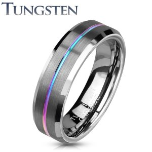 Bague Tungsten avec Rainure