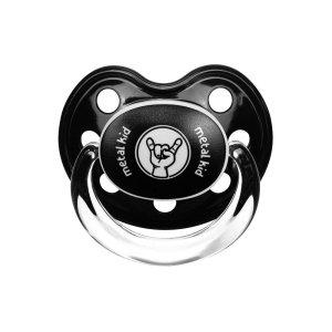 tétine logo metal kid noire novatex