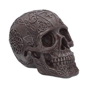 Crâne Symboles Celtiques Noir