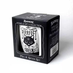 Mug à Cuillère Purrfect Brew en Porcelaine