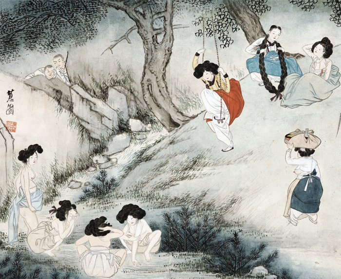 """Danodo,"" or ""Scenes on Dano Day,"" by Sin Yun-bok"