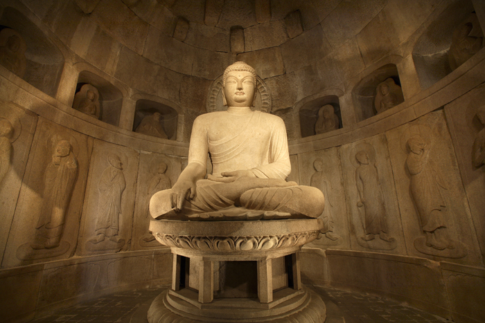 Seokguram Grotto in Gyeongju, National Treasure No. 24, is the most famous Buddhist cave-temple in Korea. (Photo: Yonhap News)