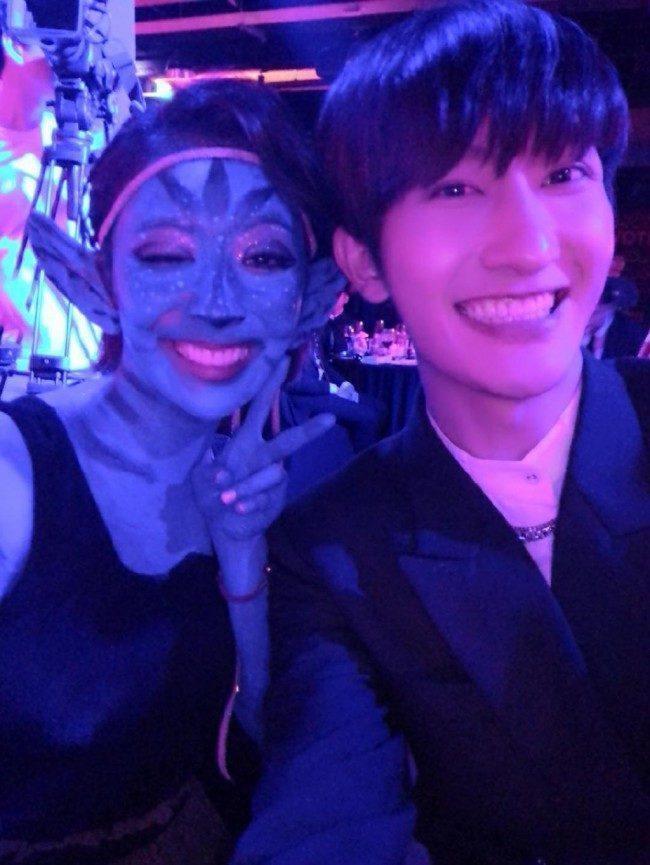 Luna, Zhoumi at SM Halloween Party 2014