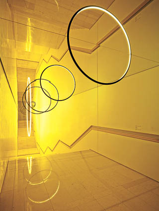 "Olafur Eliasson's site-specific installation ""Gravity Stairs"" (2014) at the Leeum, Samsung Museum of Art. His solo show will start at the museum in October. [LEEUM]"