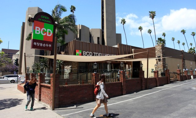 BCD Tofu House located on Wilshire