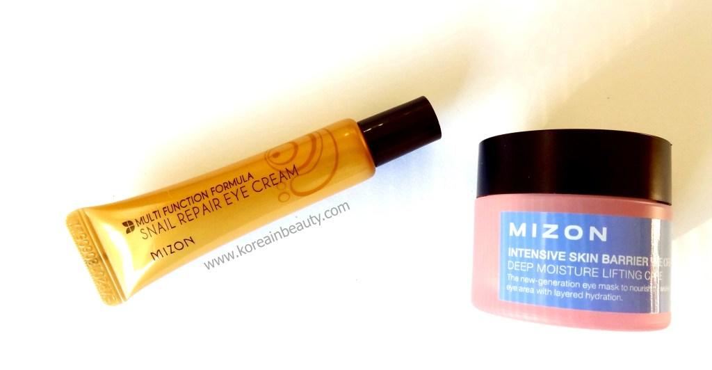 Mizon eye creams cover