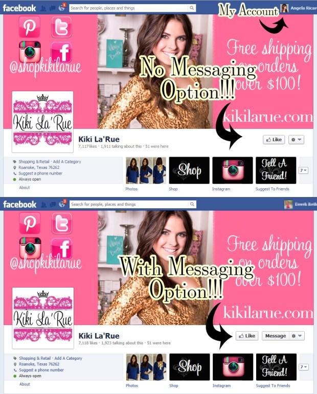 KikiLaRue.com Blocked Facebook Scammer