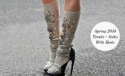 Spring 2014 Trends - Socks With Heels