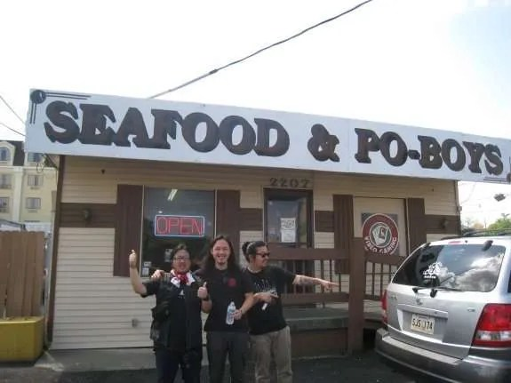 Po-boys for lunch in New Orleans 3/22