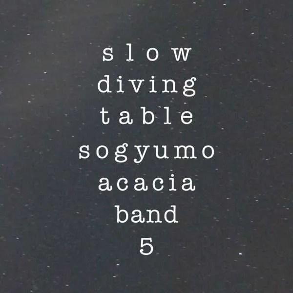 sogyumo acacia band slow diving table