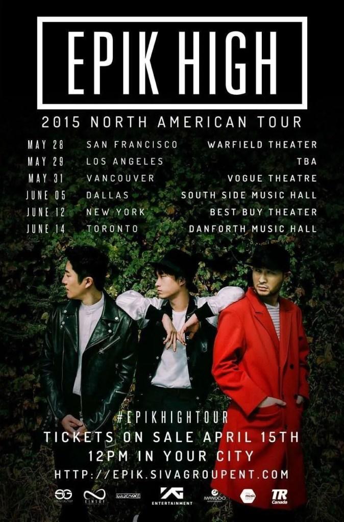 epik high 2015 north american tour