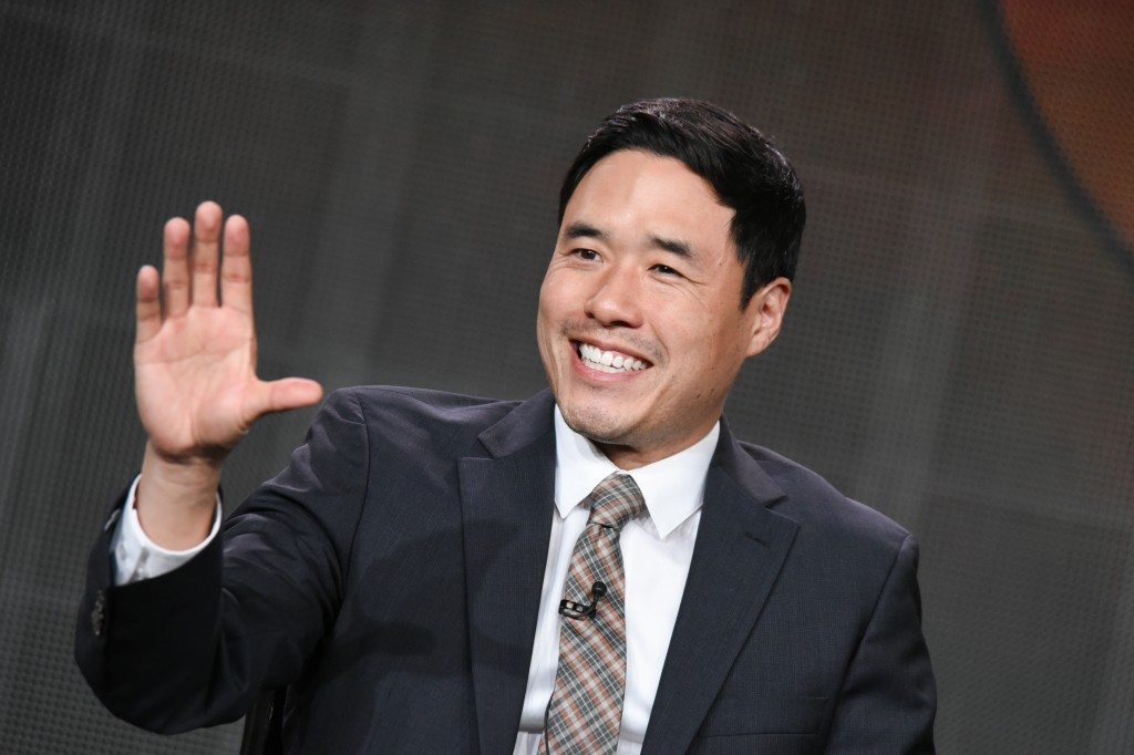 "Randall Park speaks during the ""Fresh Off the Boat"" panel at the Disney/ABC Television Group 2015 Winter TCA on Wednesday, Jan. 14, 2015, in Pasadena, Calif. (Photo by Richard Shotwell/Invision/AP)"