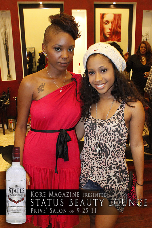 Status Vodka Hosts Beauty Lounge for Kore Magazine