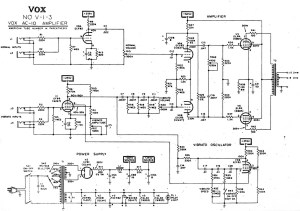 Vox Vintage Circuit Diagrams