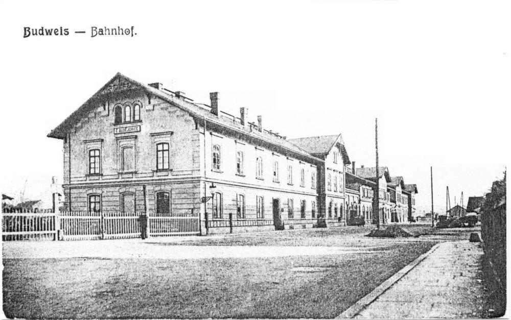 Staré českobudějovické nádraží – pohled z ulice.
