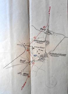 Průjezd trati mezi Vrátem a Rudolfovem (1922)