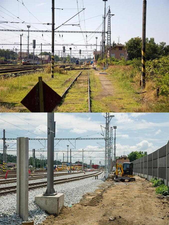 Pohled z Chudoby 7.7.2013 a 26.6.2014