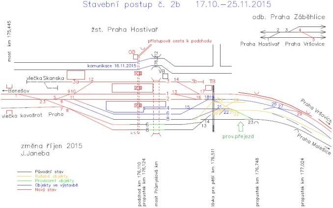 Schéma stavebního postupu SP 2b
