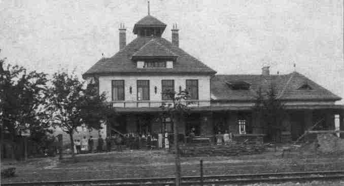 Nová výpravní budova ve výstavbě, 1914