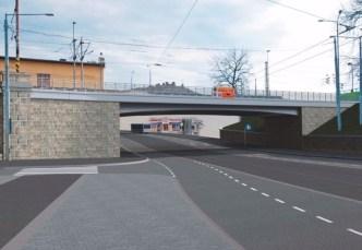 Plzeň Hlavní nádraží - Vizualizace mosty Mikulášská ulice, zdroj SŽDC materiály 2016