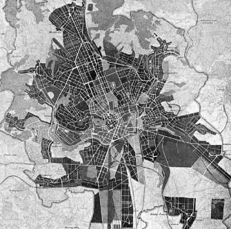 Regulace Brna – úřední podklad pro soutěž na dopravně - komunikační plán města, 1933