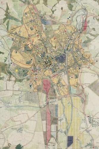 Směrný plán města Brna, B. Tureček a d., 1950 - 1952