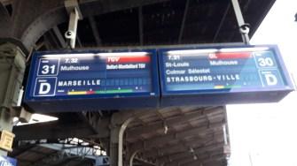Cesta Basilej - Marseille TGV Informace o řazení vlaku (Autor: Luboš Sládek, koridory.cz)