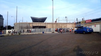 Plzeňský uzel 29.8.2018 Autobusový terminál u nádraží (Autor: Luboš Sládek, koridory.cz)