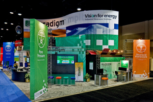 We developed an engaging trade show booth for Paradigm