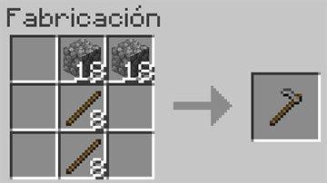 Receta de la Azada en Minecraft