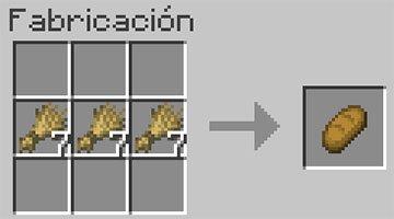 Receta del Pan en Minecraft