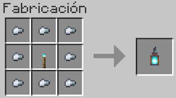 Receta del Farolillo de Fuego de Alma en Minecraft