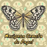 Mariposa Cometa de Papel