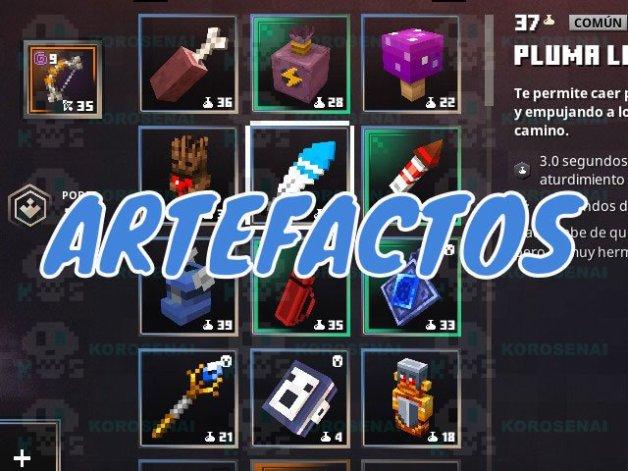 Artefactos en Minecraft Dungeons