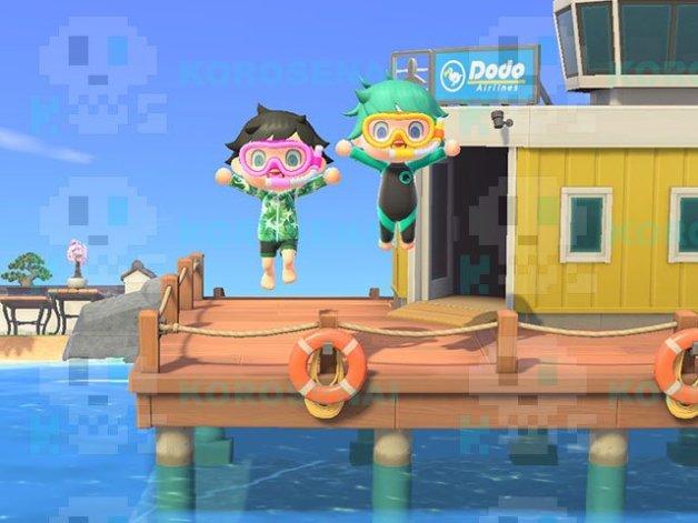 Pesca Submarina en Animal Crossing New Horizons