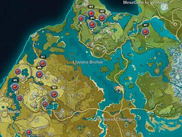 Localización del Chile Jueyun en Genshin Impact