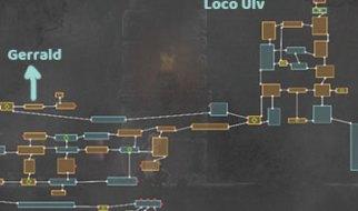Mapa con la Localización del Caballero Loco Ulv