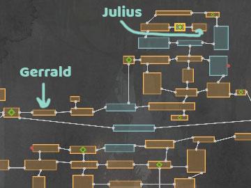 Mapa con la Localización del Comandante Julius en Ender Lilies