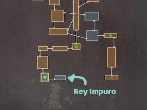 Localización en el Mapa del Rey Impuro en Ender Lilies