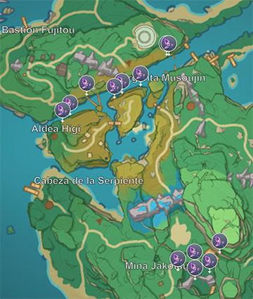 Localización de Percibetormentas en Isla Yashiori