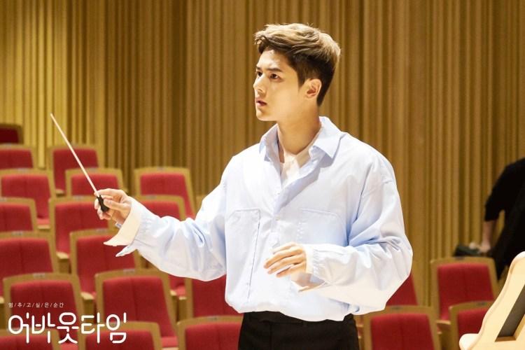 """คิมดงจุน ระหว่างถ่ายทำฉากในละคร """"About Time"""" ช่อง tvN"""