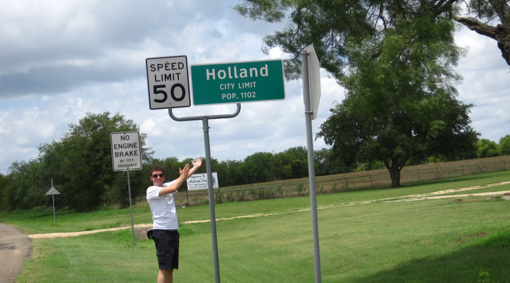 Holland, TX sign