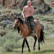 Maybe horsing around in Crimea?