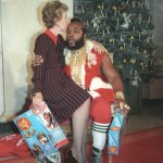 A kinder, gentler Mr. T and  Firat Lady Nancy Reagan Christmas 1983