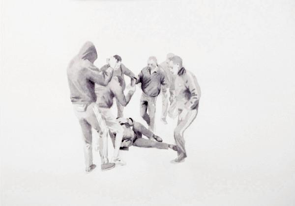 "Никита Кадан. Из серии ""Фигуры на белом""."