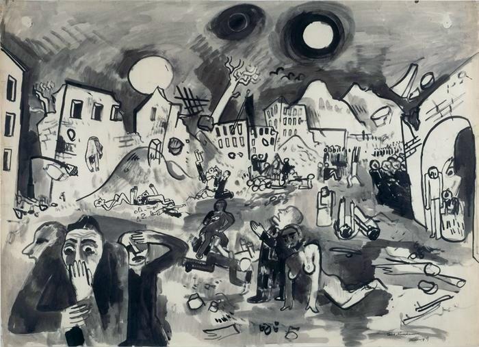 Felix Nussbaum - The great destruction 1939