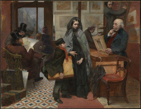 "Nameless and Friendless. ""The rich man's wealth is his strong city, etc."" - Proverbs, x, 15 1857 Emily Mary Osborn 1828-1925 Purchased with assistance from Tate Members, the Millwood Legacy and a private donor 2009 http://www.tate.org.uk/art/work/T12936"