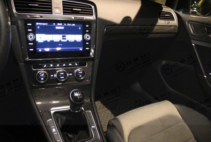 vw golf 7 interior center console cockpit trim kit koshi group llc. Black Bedroom Furniture Sets. Home Design Ideas