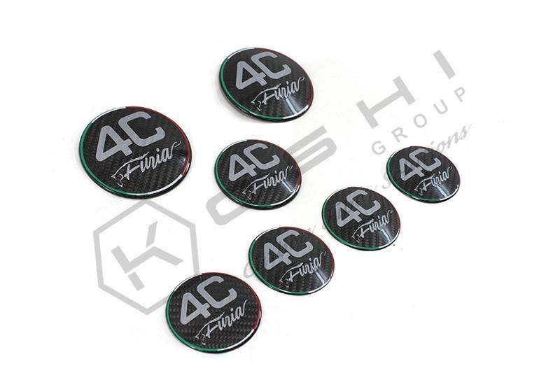 carbon fiber alfa romeo 4c emblem cover kit