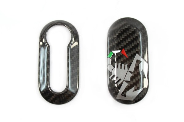 carbon fiber accessories 500 abarth tuning key cover